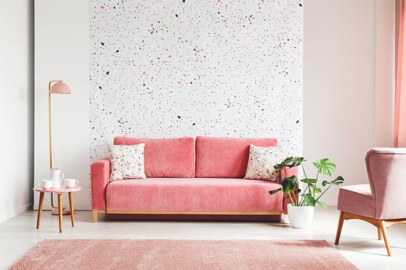 Salon w odcieniach różu